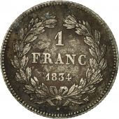 Coin, France, Louis-Philippe, Franc, 1834, Lille, VF(20-25), Silver, KM:748.13