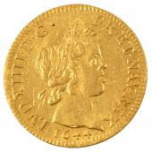 Louis XIV, Louis d'or � la m�che courte