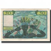 Banknote, French West Africa, 50 Francs, 1956, KM:45, AU(50-53)