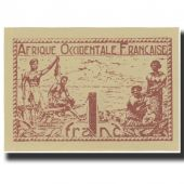 Banknote, French West Africa, 1 Franc, 1944, KM:34b, UNC(65-70)
