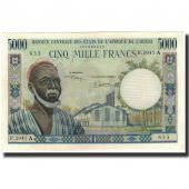 Banknote, West African States, 5000 Francs, 1966, KM:104Ah, UNC(63)