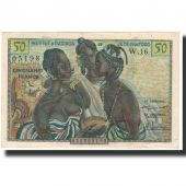 Banknote, West African States, 50 Francs, 1958, KM:1, AU(55-58)