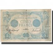 France, 5 Francs, 5 F 1912-1917 Bleu, 1915-08-24, VF(20-25), Fayette:2.30