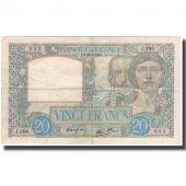 France, 20 Francs, 20 F 1939-1942 Science et Travail, 1940-02-22, EF(40-45)
