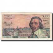 France, 1000 Francs, 1 000 F 1953-1957 Richelieu, 1957-09-05, TTB
