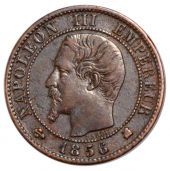 Second French Empire, 1 Centime Napoleon III bare head