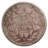 Second Empire, 50 Centimes Centimes Napoléon III tête nue