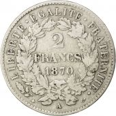 Gouvernement Défense Nationale, 2 Francs Cérès, 1870, Paris, KM 817.1