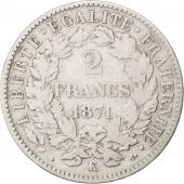 Gouvernement Défense Nationale, 2 Francs Cérès, 1871, Bordeaux, KM 817.1
