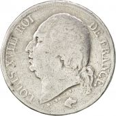 Louis XVIII, second gouvernement royal, 2 Francs 1824 A, KM 710.1