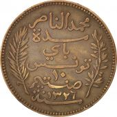 Tunisie, Protectorat Français, Mohammed al-Nasir Bey, 10 Centimes 1908 A, KM 236
