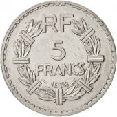 France, Lavrillier, 5 Francs, 1938, Paris, TTB+, Nickel, KM:888, Gadoury:760
