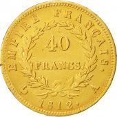 France, Napoléon I, 40 Francs, 1812, Paris, TTB, Gold, KM:696.1, Gadoury:1084