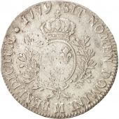 France, Louis XVI, �cu aux branches dolivier, Ecu, 1779, Toulouse, VF(30-35...