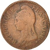 France, Dupré, Decime, 1799, Paris, VF(30-35), Bronze, KM:644.1, Gadoury:187