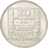 France, Turin, 20 Francs, 1933, Paris, SUP, Argent, KM:879, Gadoury:852