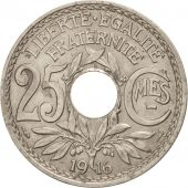 France, Lindauer, 25 Centimes, 1916, AU(50-53), Nickel, KM:867, Gadoury:379