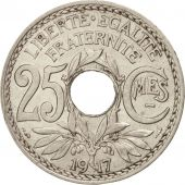 France, Lindauer, 25 Centimes, 1917, MS(60-62), Nickel, KM:867, Gadoury:379