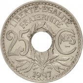France, Lindauer, 25 Centimes, 1917, SUP, Nickel, KM:867, Gadoury:379