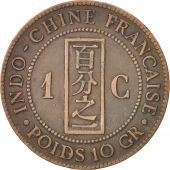 FRENCH INDO-CHINA, Cent, 1886, Paris, TB, Bronze, KM:1, Lecompte:38