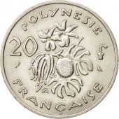 French Polynesia, 20 Francs, 1972, Paris, SUP, Nickel, KM:9