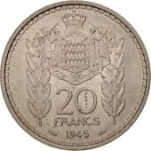 Monaco, 20 Francs, 1945, MS(60-62), Copper-nickel, KM:E20, Gadoury:MC137