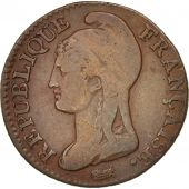 France, Dupré, 5 Centimes, 1795, Paris, TB+, Bronze, KM:635.1, Gadoury:124