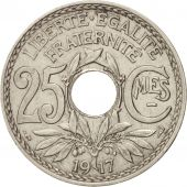 France, Lindauer, 25 Centimes, 1917, AU(55-58), Nickel, KM:867, Gadoury:379