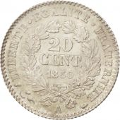 France, Cérès,20 Centimes, 1850, Paris, MS(65-70), Silver, KM:769.1, Gadoury:303