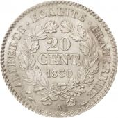 France, Cérès, 20 Centimes, 1850, Paris, MS(60-62), Silver, KM:758.1,Gadoury 303