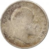 INDIA-BRITISH, Edward VII, 2 Annas, 1904, VF(30-35), Silver, KM:505
