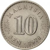 Malaysie, 10 Sen, 1978, Franklin Mint, TTB+, Copper-nickel, KM:3