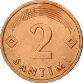 Latvia, 2 Santimi, 1992, TTB+, Copper Clad Steel, KM:21