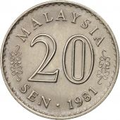 Malaysie, 20 Sen, 1981, Franklin Mint, TTB+, Copper-nickel, KM:4