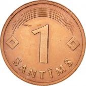 Latvia, Santims, 1992, SUP, Copper Clad Steel, KM:15