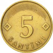 Latvia, 5 Santimi, 1992, TTB, Nickel-brass, KM:16