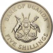 Uganda, 5 Shillings, 1968, AU(55-58), Copper-nickel, KM:7