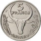 Madagascar, 5 Francs, Ariary, 1972, Paris, TTB+, Stainless Steel, KM:10