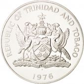 TRINIDAD & TOBAGO, 5 Dollars, 1976, Franklin Mint, MS(64), Silver, KM:35a