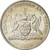 TRINIDAD & TOBAGO, 25 Cents, 1976, MS(64), Copper-nickel, KM:32