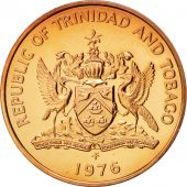 TRINIDAD & TOBAGO, 5 Cents, 1976, MS(64), Bronze, KM:30
