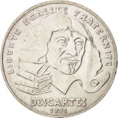 France, Descartes, 100 Francs, 1991, SUP, Argent, KM:996, Gadoury:906