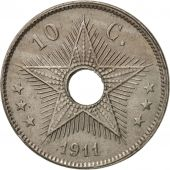 Congo belge, 10 Centimes, 1911, Heaton, TTB+, Copper-nickel, KM:18