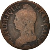 France, Dupré, 5 Centimes, 1796, Paris, TB, Bronze, KM:640.1, Gadoury:126