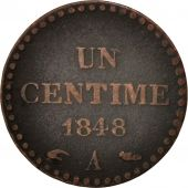 France, Dupré, Centime, 1848, Paris, TB+, Bronze, KM:754, Gadoury:84
