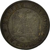 France, Napoleon III,Centime, 1855, Lille, EF(40-45), Bronze,KM 775.7,Gadoury 86