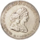 États italiens, TUSCANY, Charles Louis, 10 Lire, 1807, SUP, Argent, KM:49.2
