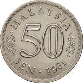 Malaysie, 50 Sen, 1981, Franklin Mint, TTB+, Copper-nickel, KM:5.3