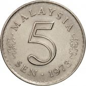 Malaysie, 5 Sen, 1973, Franklin Mint, TTB+, Copper-nickel, KM:2