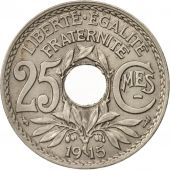 France, Lindauer, 25 Centimes, 1915, SUP, Nickel, KM:867, Gadoury:379